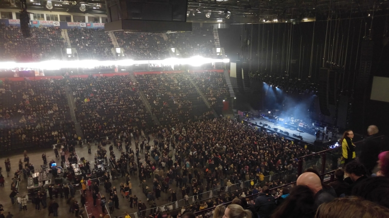 The crowd in Manchester Arena awaiting The Cure